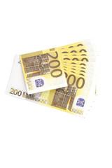 Money on a white background