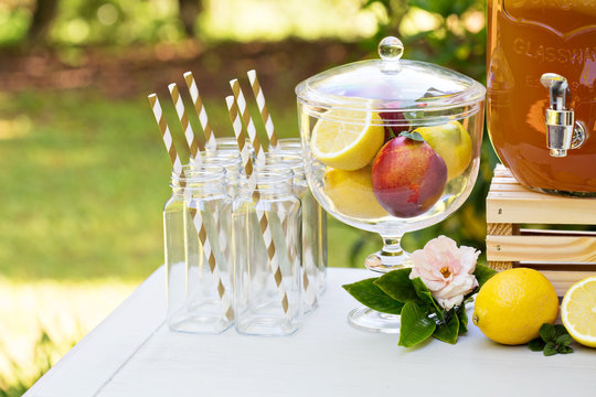 Drink station for an outdoor party