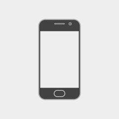 Mobile phone, smartphone monochrome icon