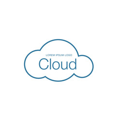 Cloud logotype, cloud technologies