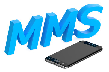 mms concept with smartphone