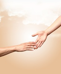 Human Hand, Assistance, Charity and Relief Work.