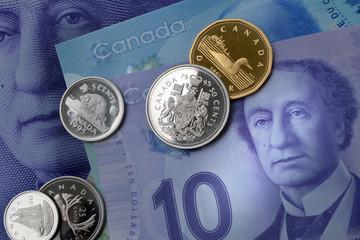Canadian Dollar close up