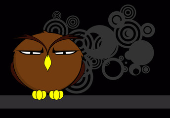 owl cartoon expressions background in vector format