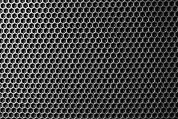 Acrylic Prints Metal metal mesh of speaker grill texture