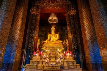 Buddha Statue at Wat Bovorn (Bowon temple) in Bangkok, thailand