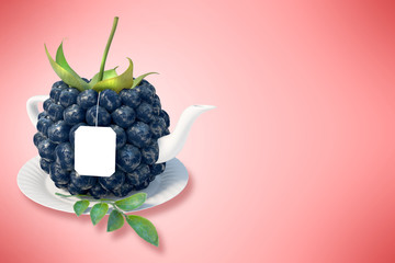 Blueberry tea cup