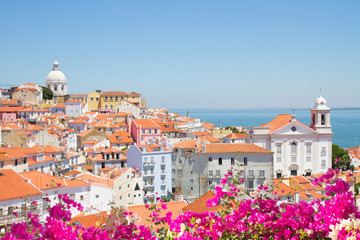 view of Alfama, Lisbon, Portugal Wall mural