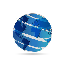 Blue world globe map logo