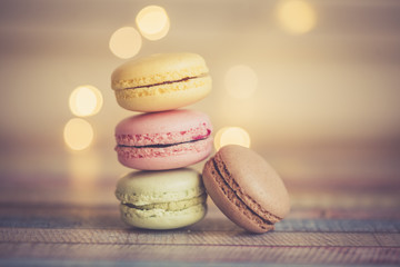 Stack of different macarons