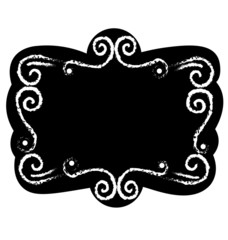 Black chalk board template vintage frame with blank space for your design vector