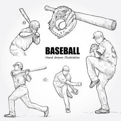 illustration of baseball