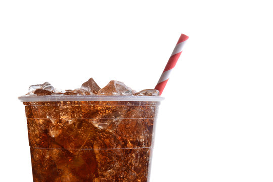 Closeup Cola with Straw