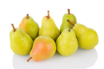 Bartlett Pears on White