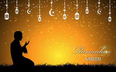 vector beautiful scene ramadan muslim culture background