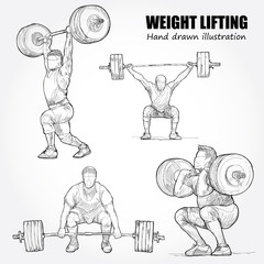 Illustration of Weight Lifting
