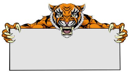 Tiger mascot sign