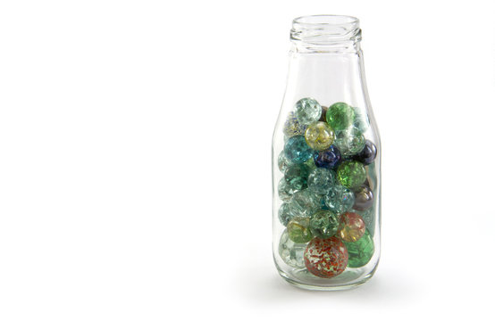 Crack Marbles in a jar