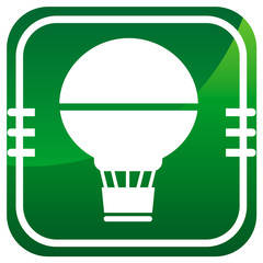 Air Balloon - Vector green icon isolated
