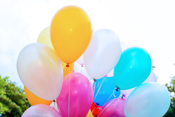 Colorful balloons. Background