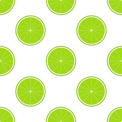 Lime Seamless Pattern. Seamless pattern with ripe juicy lime fruit.
