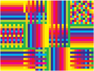 color vector rainbow shapes background