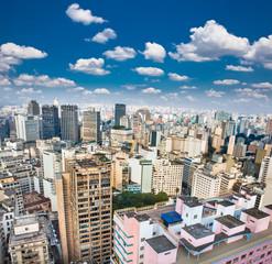 View of San Paolo skyline, Brazil.