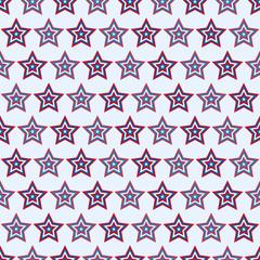 July 4, seamless star pattern American