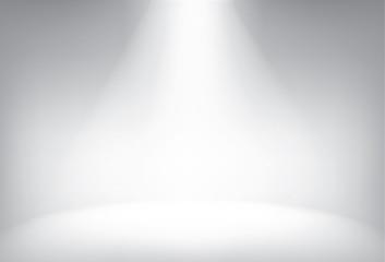 Fototapeta Illuminated stage with scenic lights vector background