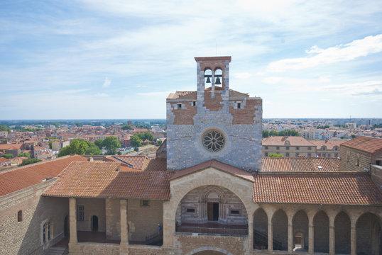 Castillo Perpignan, Francia