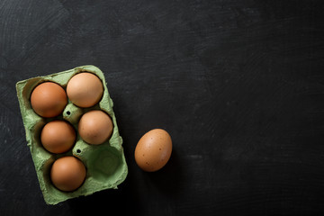 Eggs in Box food Background