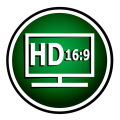 HD display green round icon