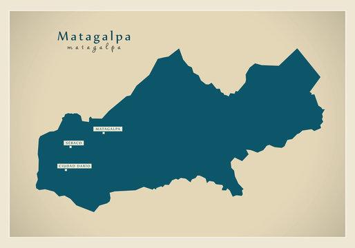 Modern Map - Matagalpa NI
