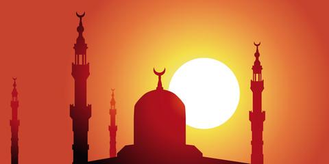 Minaret-couche de soleil