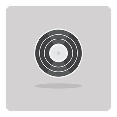 Vector of flat icon, vinyl record on isolated background