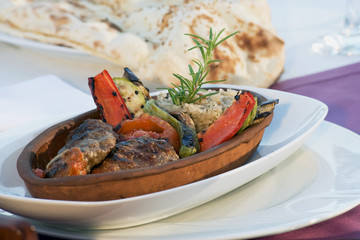 Kofte, Kofta, Middle East Kababs in marmite