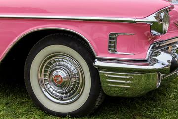 Détail de véhicule de collection, les voitures américaine