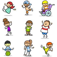 Kinder haben Spaß bei Integration