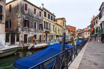 VENICE, ITALY. Typical city landscape. Street canal