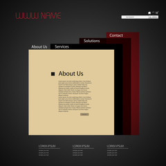 simple abstract web site design template