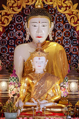 White jade buddha image was established in 2006 in thailand, It