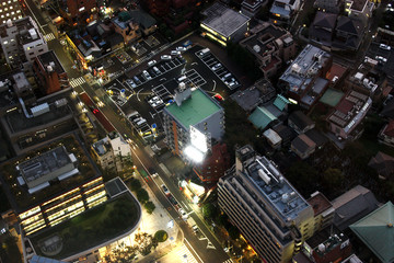 Japan, Tokyo, dusk, night, cityscape, urban