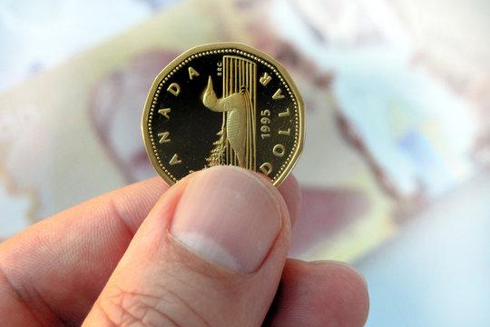 One Canadian dollar