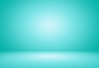 Smooth Turquoise with Black vignette Studio well use as backgrou