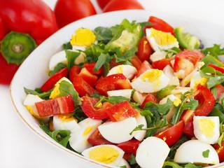 Fresh summer salad in bowl