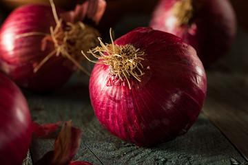 Raw Organic Red Onions