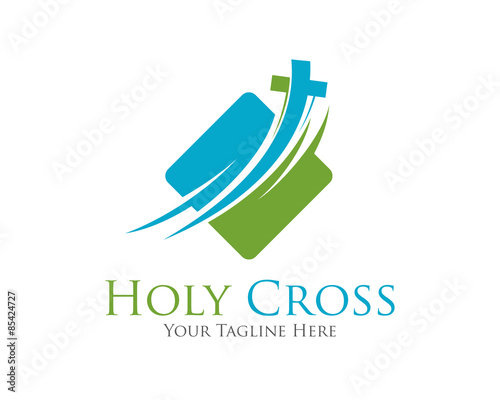 Cross Vector Logo Design Template Template Logo For Churches And