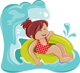 Little girl enjoying on the sea
