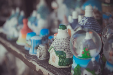 Close up of a ceramic Trulli houses