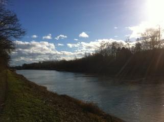 Kanal/Fluss Weg